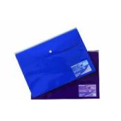 A4 Button Wallet Plastic