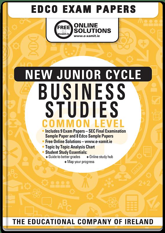 Business Studies Junior Cert Common Level Sample Exam Paper